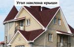 Угол наклона крыши – от чего зависит и какой выбрать