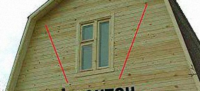 Устройство, обшивка и утепление фронтона деревянного дома