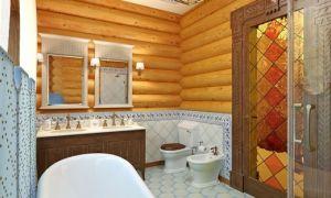 Устройство ванной комнаты в деревянном доме