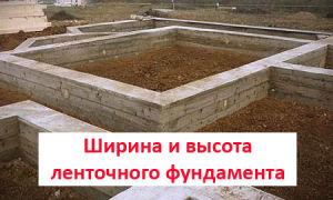 Как подобрать глубину и ширину ленточного фундамента