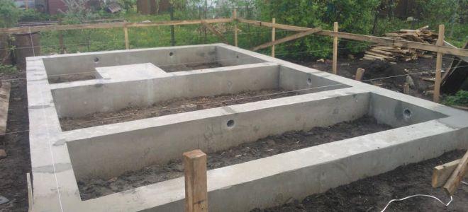 Устройство фундамента для дома из керамзитобетонных блоков