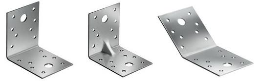 Различные виды крепежных уголков