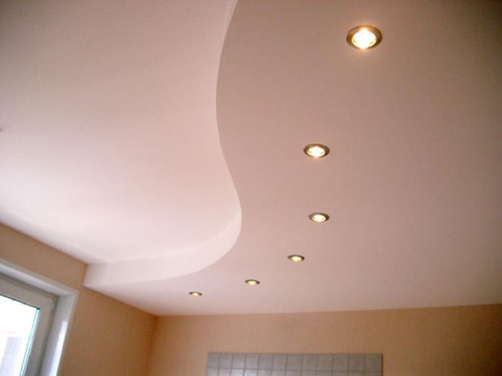 Потолок в кухне из гипсокартона своими руками