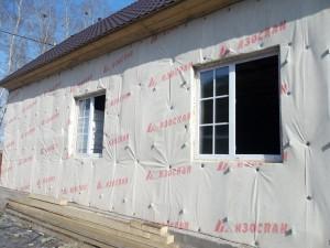 Утепленная стена деревянного дома