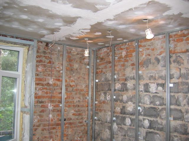 Ремонт стен — гипсокартон