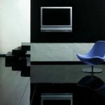 Черный глянцевый ламинат в дизайне
