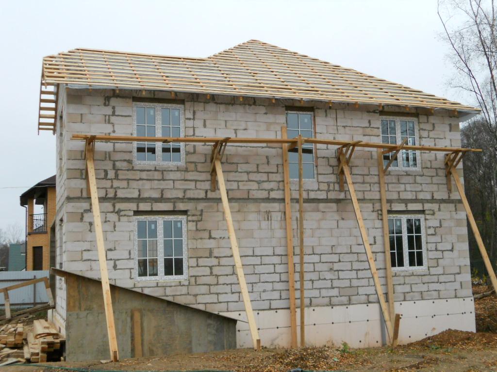 Как построить дом своими руками из пеноблоков фото