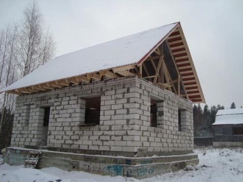 Мой дом на этапе строительства
