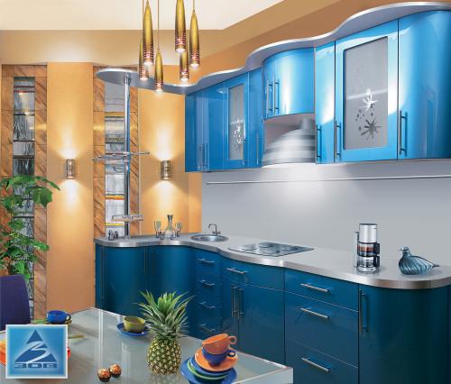"Моя кухня ""синий металлик"""