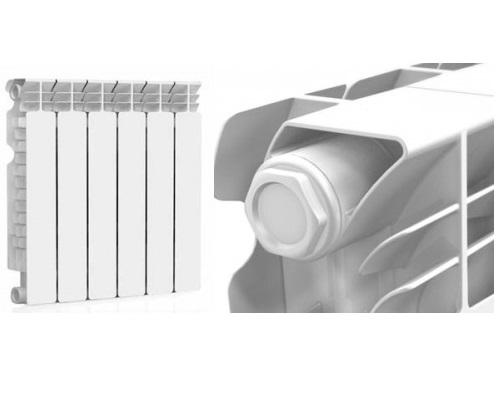 Секции и оребрение радиатора Extra Therm