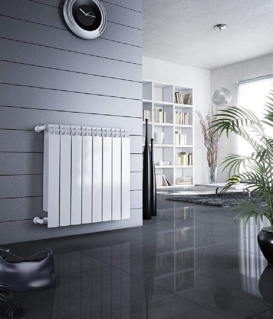 Фото алюминиевых радиаторов отопления в интерьере