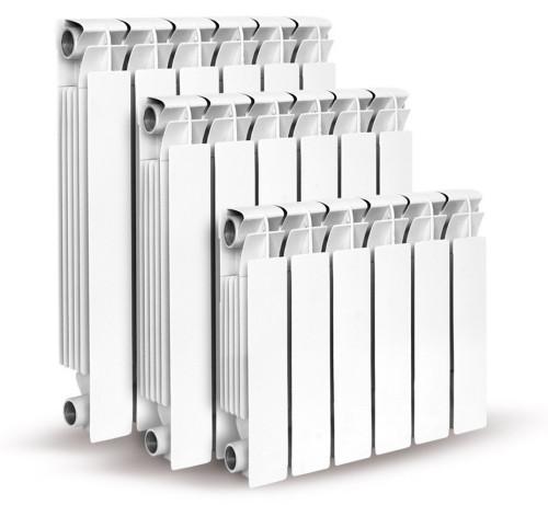 Биметаллические радиаторы имеют разные размеры, благодаря чему могут быть установлены в любом помещении