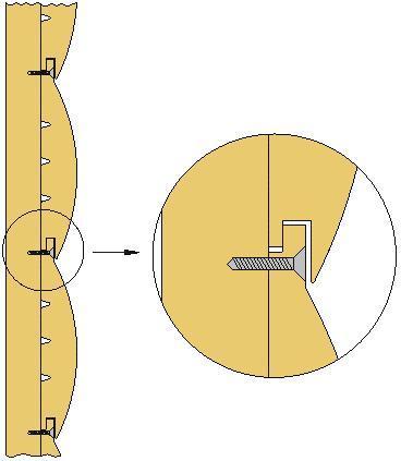Крепление блок хауса в шип посредством шурупа