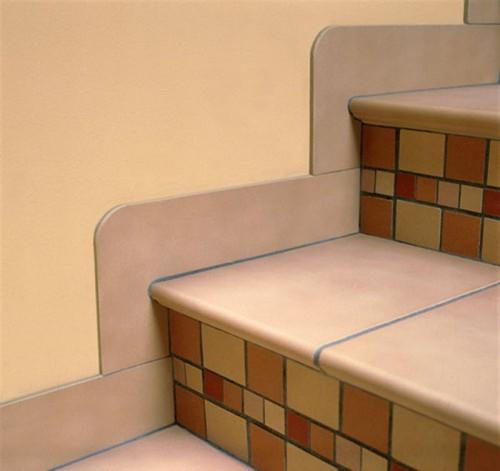 Лестница, облицованная не цельным керамогранитом