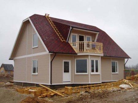 Пример дома, возведенного по каркасной технологии