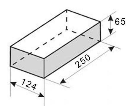 Размеры шамотного кирпича ШБ 8