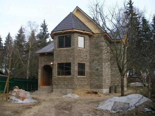 Наш домик на этапе строительства