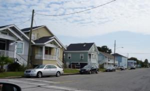 Типичный квартал из каркасников в США