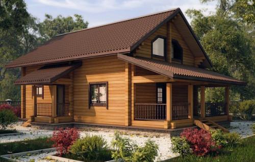 На фото мой дом из финского клееного бруса