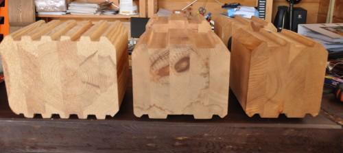 Клееный брус изготовленный из различных сортов хвойной древесины