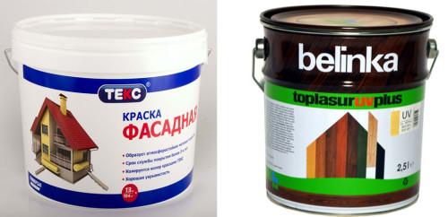 Финишные защитные составы производства Belinka и ТЕКС