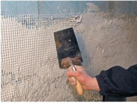 Сетка позволяет укрепить стену