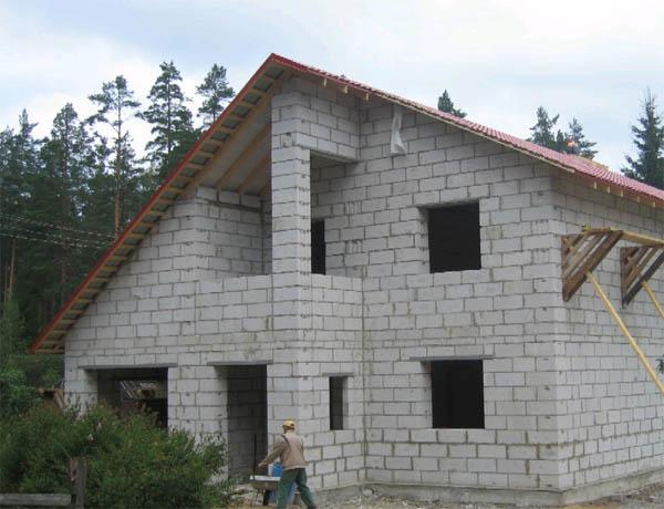 Дом, построенный с использованием газосиликата