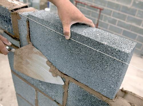 Стена из керамзитобетона своими руками 89