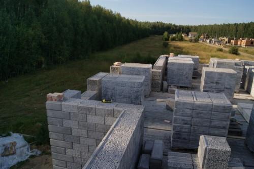 Стена моего дома из керамзитобетонного блока