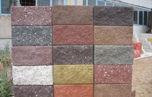 Цветные керамзитобетонные блоки