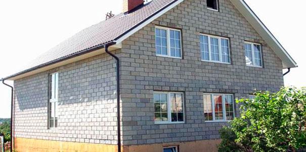 Картинки по запросу фото домов из керамзитобетонных блоков