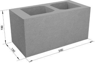 Пустотелый кладочно-изоляционный 390х190х190 мм
