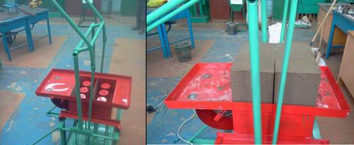 Пример ручного станка для производства керамзитоблоков