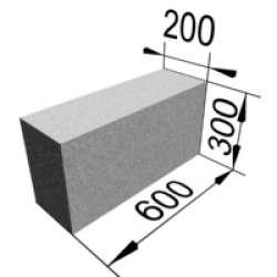 Стандартный блок 600х300х200