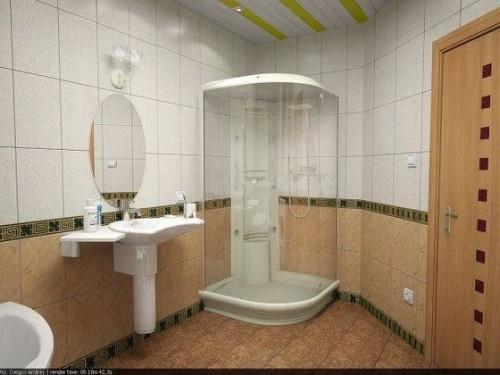 Наиболее оптимальный вариант - закрыть все деревянные поверхности ванной отделочными материалами