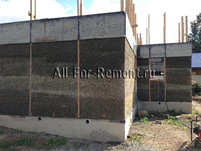 Стены из монолитного арболита
