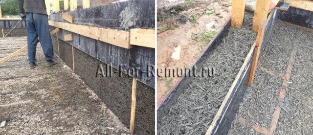 Процесс изготовления монолитной стены